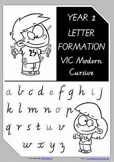 vic cursive handwriting worksheets 22079 year 2 handwriting letter formation uppercase lowercase vic precursive letter