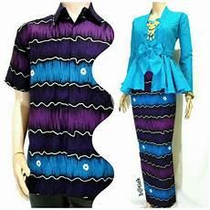 jual batik couple murah warna biru baju batik pasangan baju batik sarimbit modern baju batik