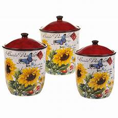 sunflower canisters for kitchen certified international sunflower meadow 3 kitchen