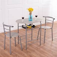 Furniture Kitchen Set Costway 3 Dining Set Table 2 Chairs Bistro Pub Home
