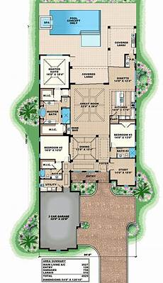 lanai house plans 3 bed beauty with 2 lanai 66342we architectural