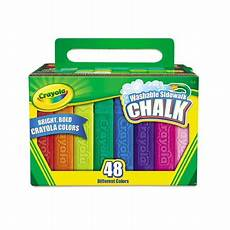 Amazon Com Washable Sidewalk Chalk 48 Assorted Bright Crayola Washable Sidewalk Chalk 48 Assorted Bright Colors
