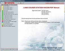 manual repair autos 2005 toyota land cruiser security system toyota land cruiser station wagon