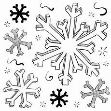 Winter Malvorlagen Xl Snowflake And Illustration Stock Vector