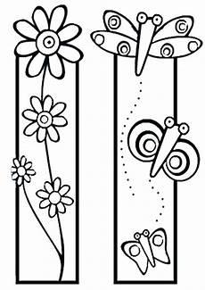 ausmalbilder bookmarks 12 lesezeichen basteln