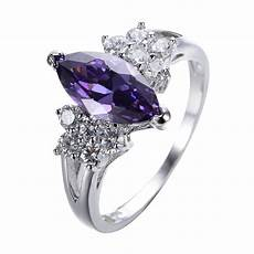 size 5 9 marquise cut purple amethyst aaa cz wedding ring 10kt white gold filled ebay
