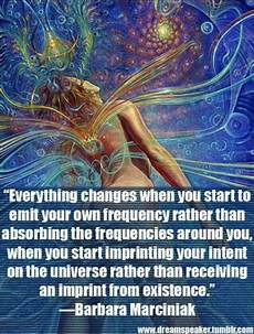 everything changes when you start to emit your own
