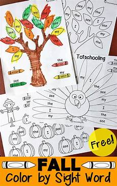 fall coloring worksheets for kindergarten 12917 free fall sight words pack free homeschool deals