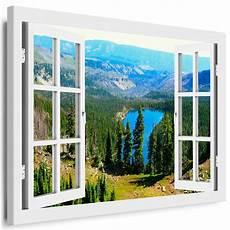 Leinwand Bild Fensterblick 59 Bilder See Berge Wald