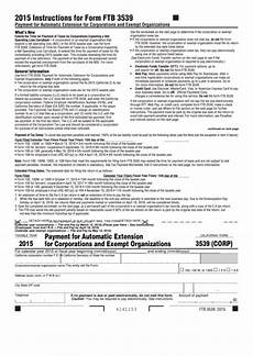 fillable form 3539 corp california payment for