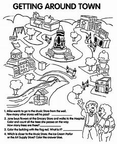 coloring pages places in town 18038 getting around town coloring page crayola