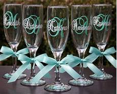 6 monogrammed and bridesmaids chagne flutes personalized wedding glasses wedding
