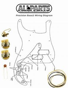 new precision bass pots wire wiring kit for fender p bass guitar diagram ebay