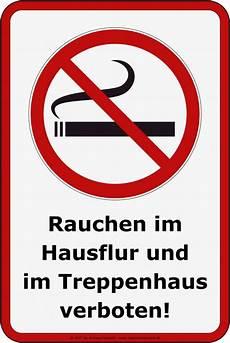 Aufkleber Rauchverbot Hausflur Treppenhaus 20 X 30 Cm