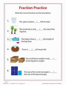 fraction practice worksheet education com