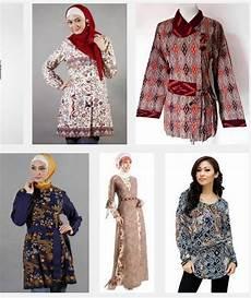 Model Baju Batik Wanita Untuk Pesta Muslimah Modern Terbaru