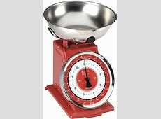 Typhoon Retro Red Stainless Steel Kitchen Scale