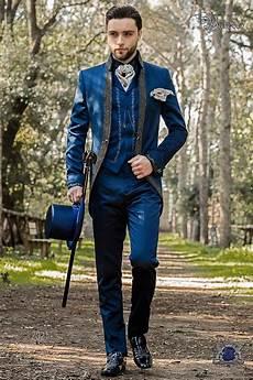 vintage hochzeitsanzug herren barocker hochzeitsanzug vintage gehrock aus blauem satin