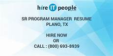sr program manager resume plano tx hire it we get it done