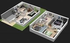 exemple de plan de maison en 3d gratuit plan architecture
