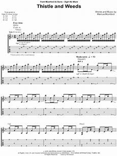 mumford sons quot thistle and weeds quot guitar tab download print