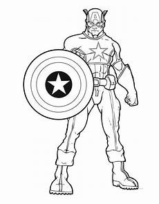 Ausmalbilder Superhelden Malvorlagen Printable Captain America Coloring Pages Superhelden