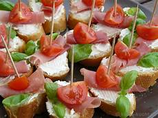 tapas tomaten parmaschinken schnittchen fingerfood