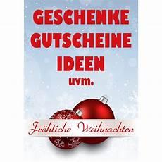 Plakat Poster Weihnachten Geschenke Gutscheine Din