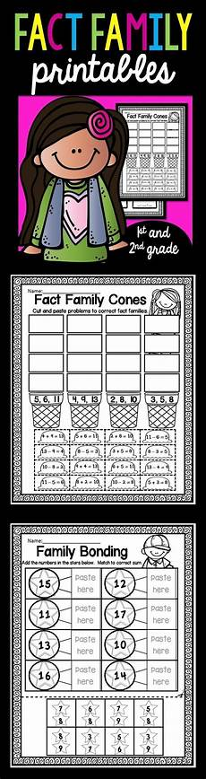 worksheets printable 15561 fact family worksheets for and second grade there are many different ways to practice