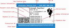 id card template inkscape physical blockchain identity card morning musings