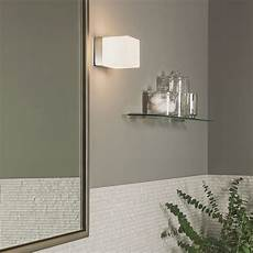 astro cube polished chrome and white glass bathroom wall light at uk electrical supplies