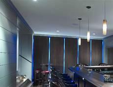 floating panel wall with led lighting traditional basement philadelphia by hoishik