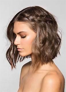 long bob styling inspiration waves and braid bob wedding hair style braids for short hair
