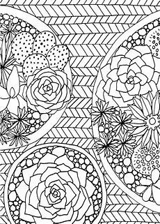 free printable coloring pages for adults 17634 succulents portable coloring book 31 stress relieving designs studio