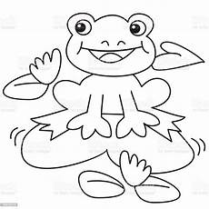 Ausmalbild Frosch Auf Seerosenblatt Malvorlage Frosch Auf Seeerose Coloring And Malvorlagan