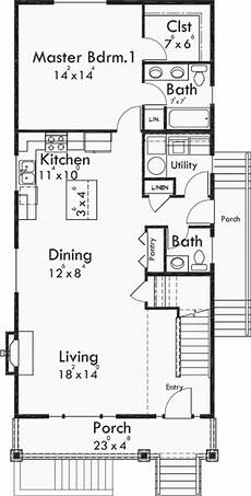 house plans with basement apartments narrow lot plan with basement apartment two family