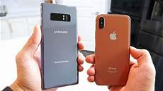 samsung galaxy note 8 vs iphone x battle of the bezels