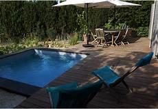 micro piscine bois jardin 233 cologique luxuriant micro piscine carr 233 e en