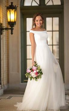 modern wedding gowns simple and modern wedding dress with mixed fabric stella
