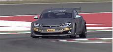 Tesla Model S P100dl Electric Gt Race Car Track Tested By