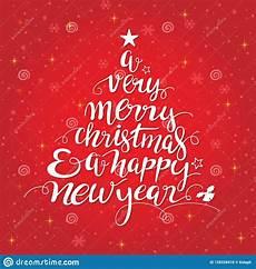 merry christmas handwritten tree shape typography stock vector illustration of tree type