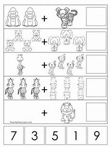 pre k addition worksheets with pictures 9638 15 zoo themed math worksheets preschool by teach at daycare teachers pay teachers