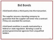 bid bond the aspect of purchasing
