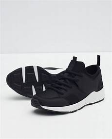 Zara 3cm Black zara combination sneakers in black for lyst