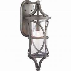 progress lighting morrison collection 1 light pewter outdoor wall lantern sconce p560118