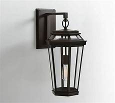 pottery barn chateau indoor outdoor wall sconce light bronze finish ebay