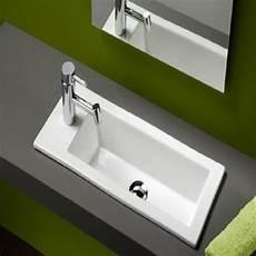 lavabo a encastrer vasque 224 encastrer rectangulaire 60 x 25 cm tr 232 s design