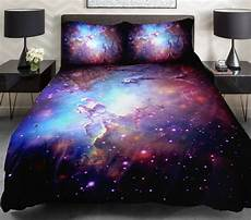 3d duvet cover printing galaxy blue sheets and outer space bedding bedspread with 2 silk