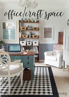 office and craft space reveal in 2020 craft room decor
