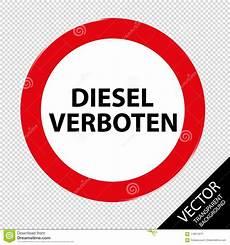Deutscher Verkehrsschild Diesel Verboten Vektor